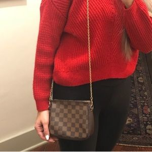 100% Authentic LV Trousse Damier Crossbody Bag